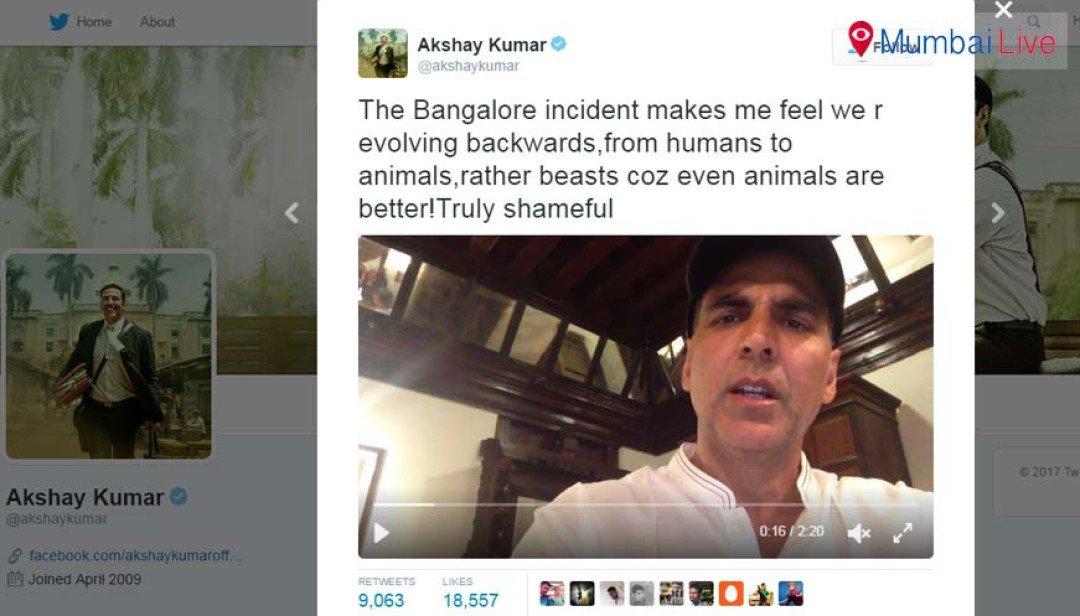 Akshay slams Bengaluru rowdies