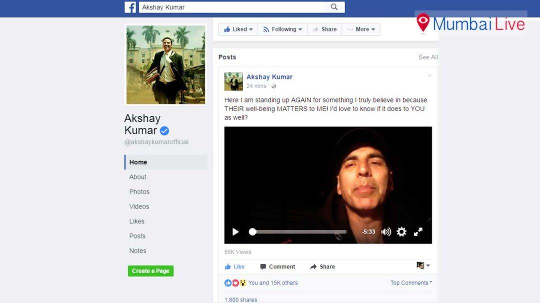 Akshay Kumar speaks up for martyrs families