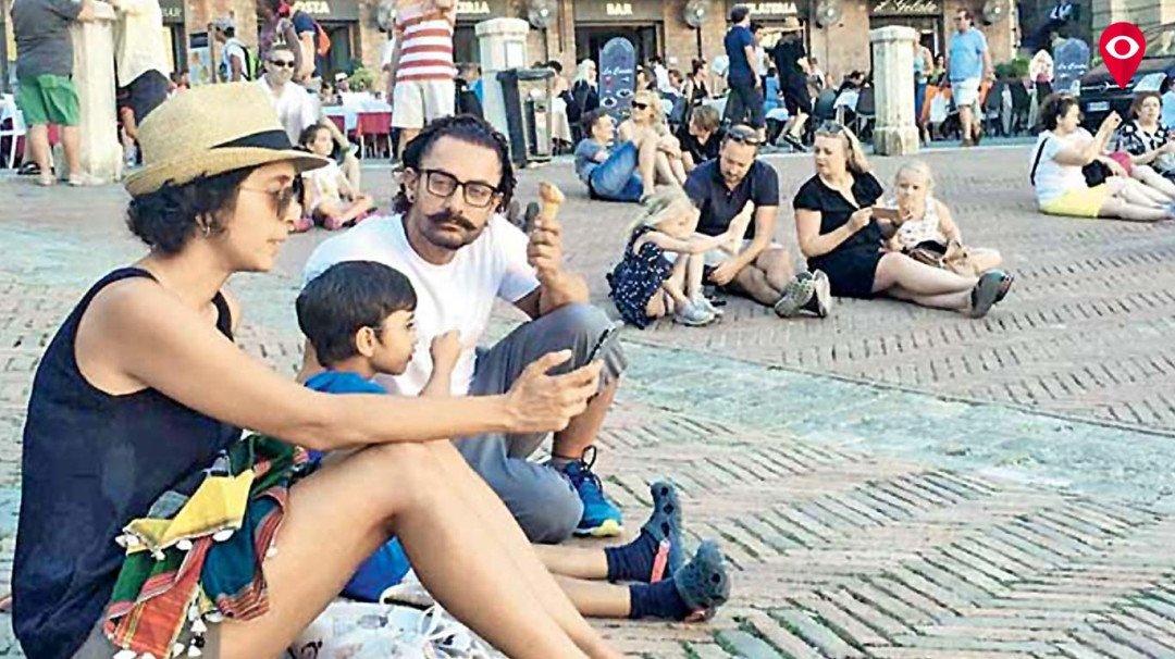 परिवार के साथ आमिर इटली में मना रहे छुट्टियां!