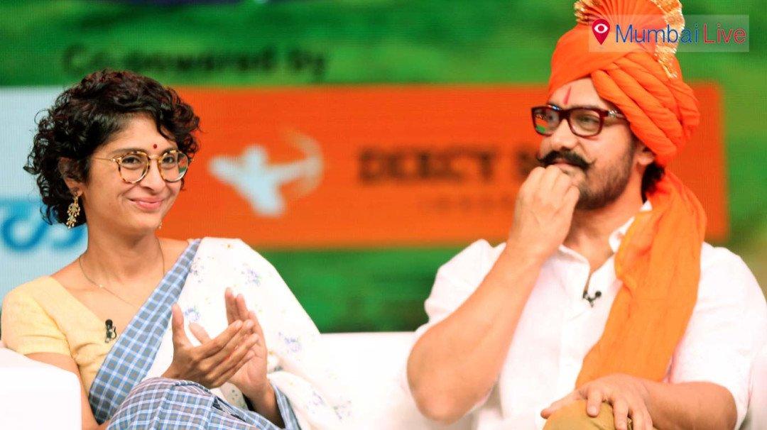 Aamir Khan, Kiran Rao grace Marathi TV show to voice drought concerns