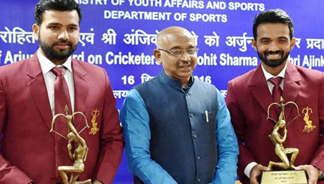 Rohit Sharma & Ajinkya Rahane earned 'Arjuna Award'