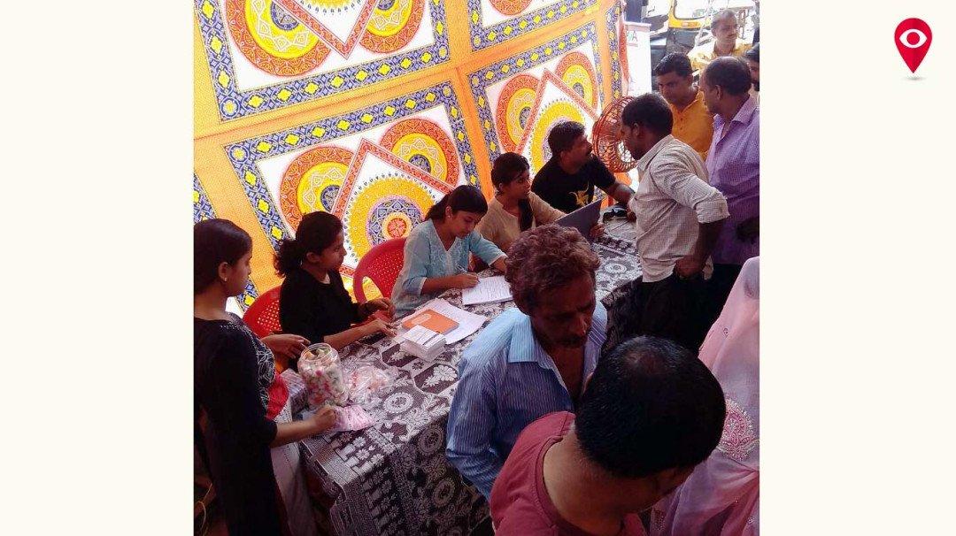 झोपड़पट्टी में मेडीकल जांच के लिए जांच शिबिर का आयोजन