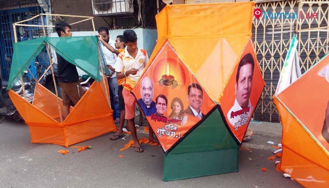 BJP lanterns light up Bandra street
