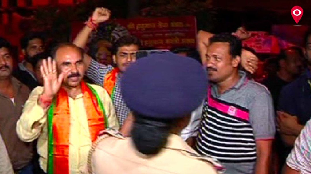 City BJP unit protests Pak action on Jadhav
