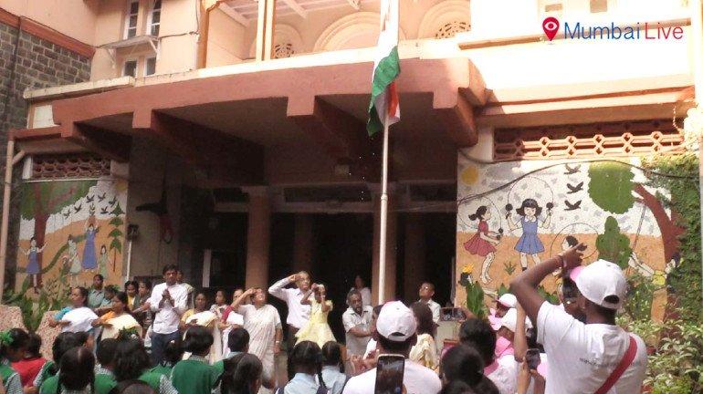 Republic day celebration at blind school