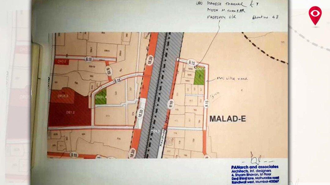 Illegal Construction: New road through garden in Malad