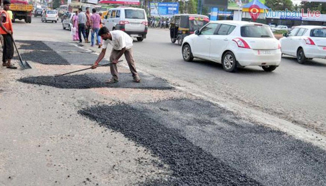 And the repairing of pothole begins...