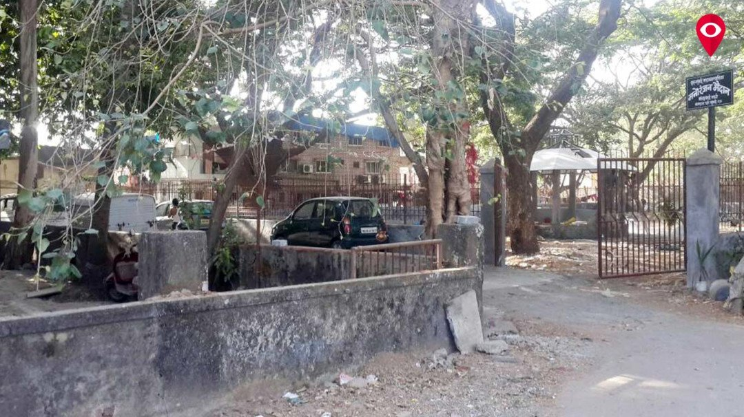 Illegal Construction: New road through garden in Malad