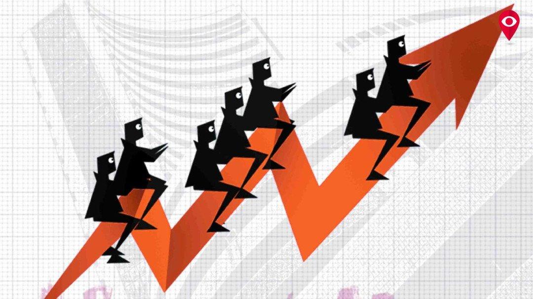 Sensex rises 448 points
