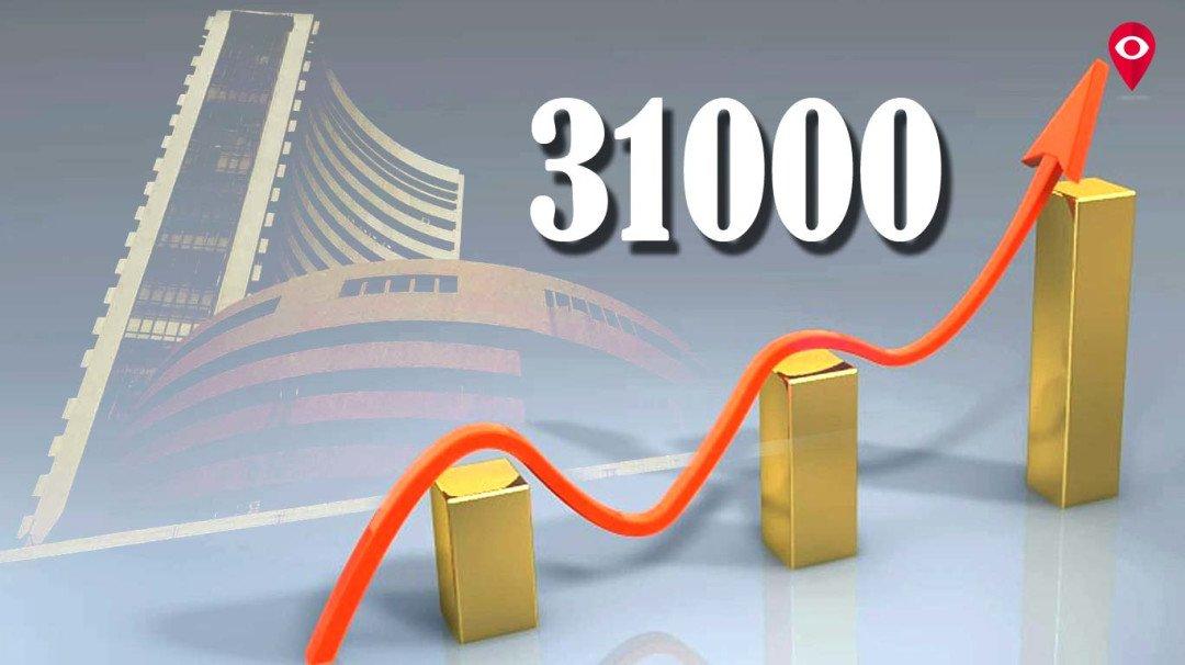 शेयर मार्केट में बहार, सेंसेक्स पहली बार 31 हजार के पार