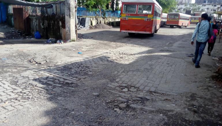 Potholes at Kurla Bus Stop