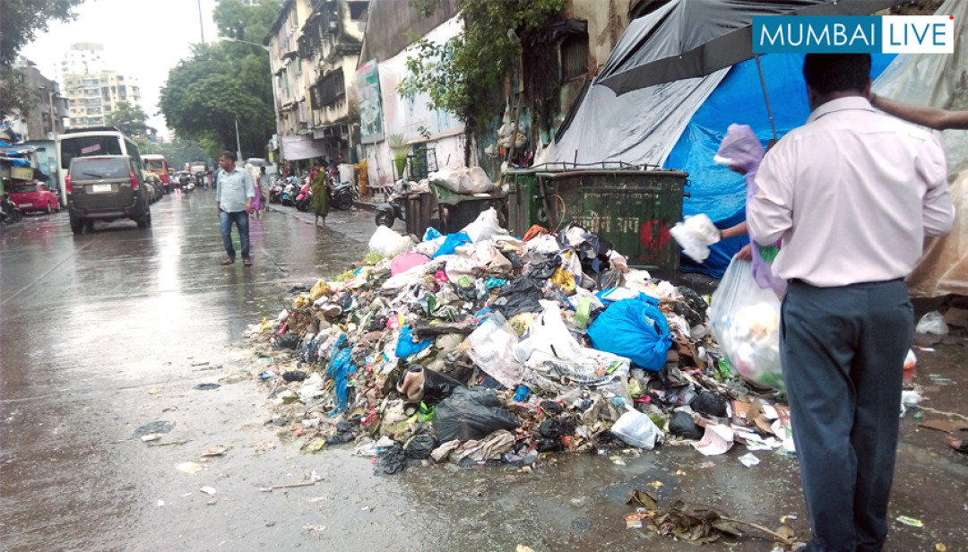 Scattered waste on Baburao Jagtap Marg