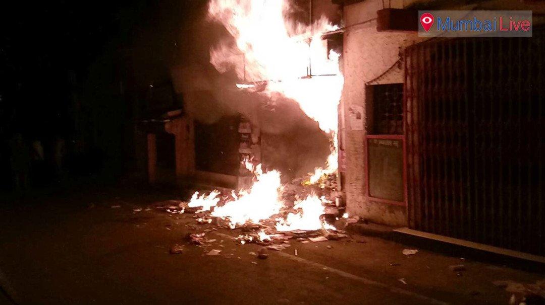 भांडुपमध्ये डेरीला भीषण आग
