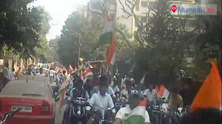 Bike rally on eve of R-day