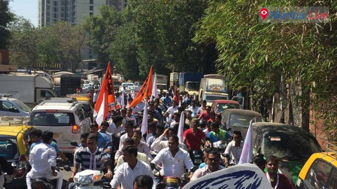 Sewri Mandal organised bike rally to honour Shivaji Maharaj