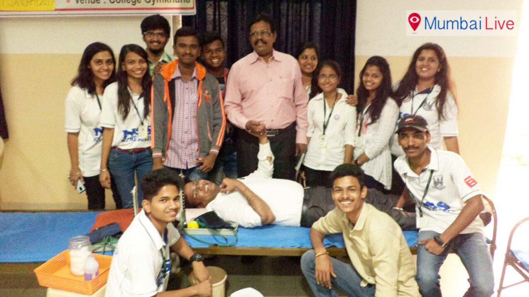 Blood donation camp at Sathey college