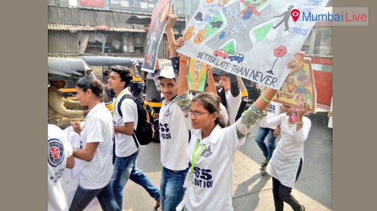 घाटकोपर में छात्रों की जनजागृति रैली