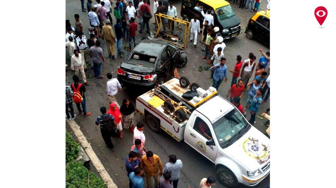 बांद्रा में भीषण एक्सीडेंट में दो की मौत, तीन घायल