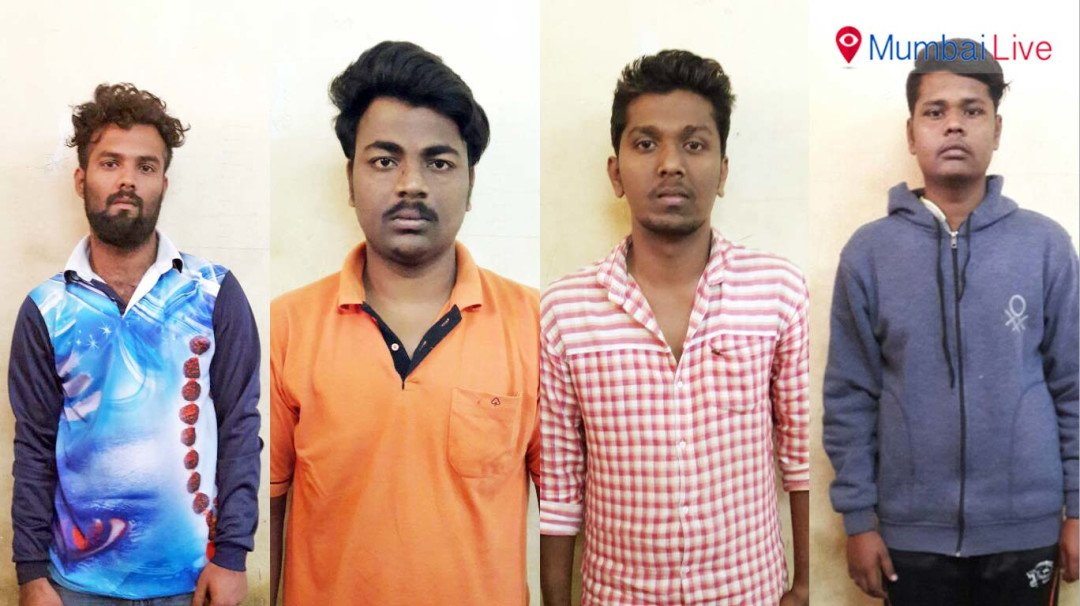 Four college students nabbed for stealing bike parts