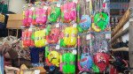 Cartoon characters on Holi items to woo kids