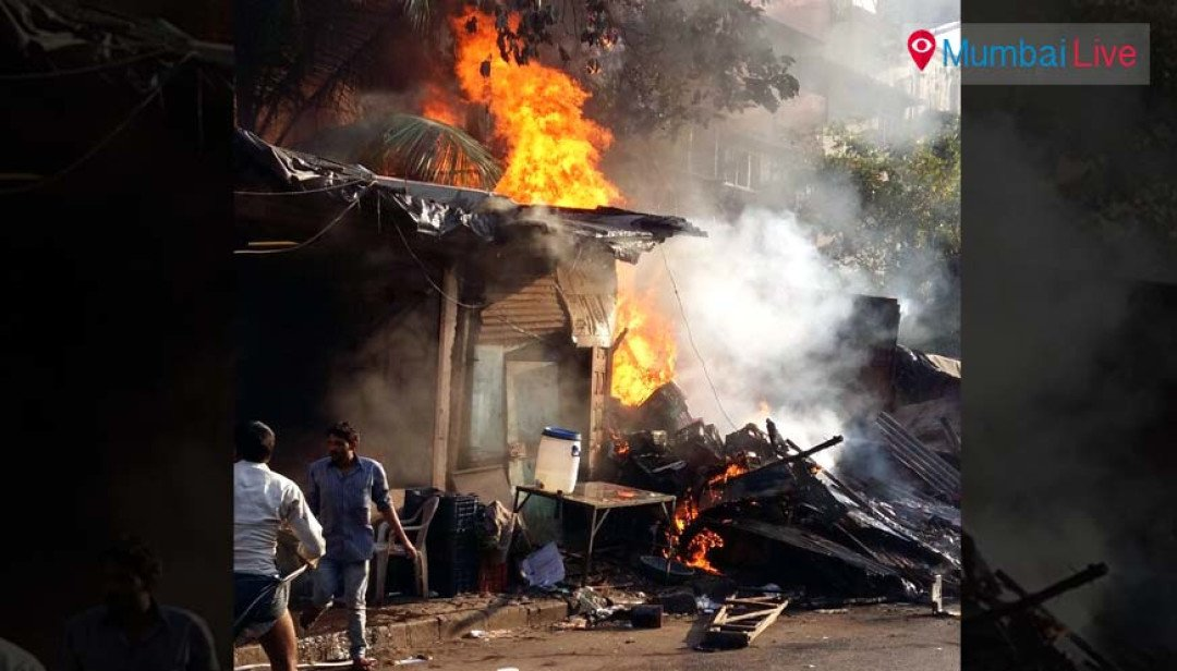 Two shops gutted in fire at Chembur