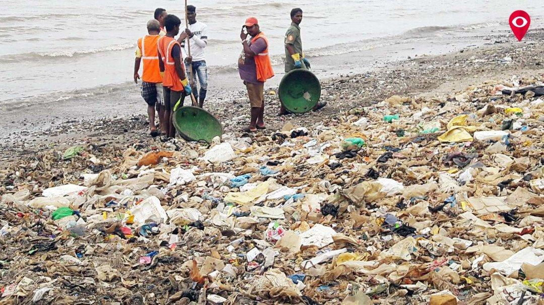 वांद्र्याचा चिंबई बीच की कचराकुंडी?