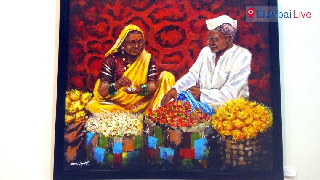 Painting exhibition in Worli