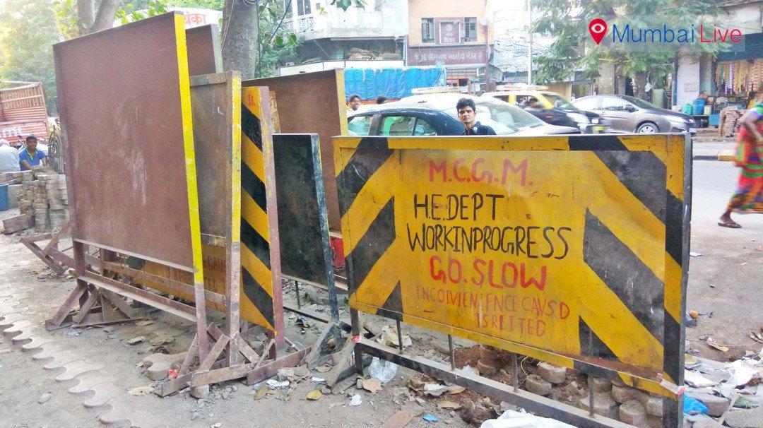Kumbharwada road paved with problems