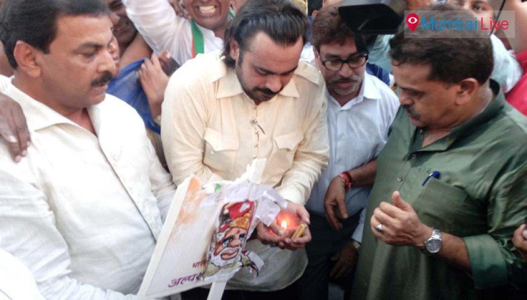 Sanjay Nirupam leads Rasta Roko protest