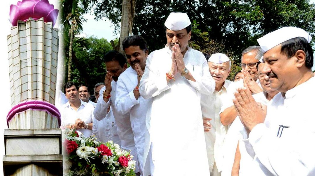 मराठा मोर्चे ने बुझाई अगस्त क्रांति दिवस की याद की ज्योत