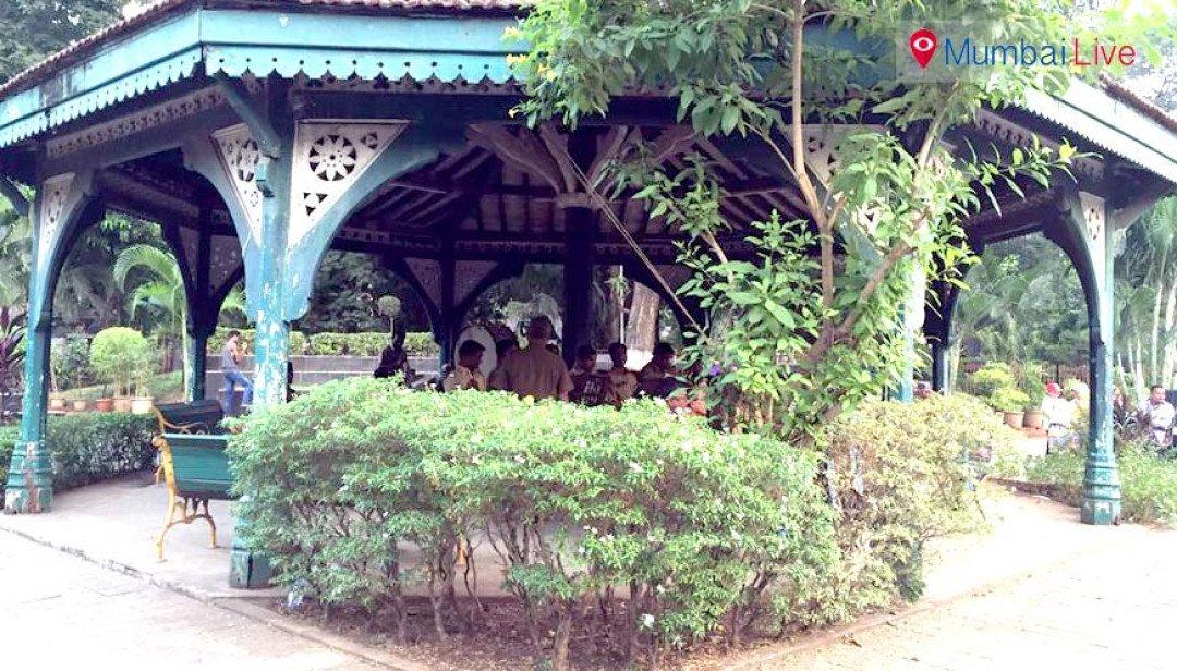 Restoring Cooperage Band Stand garden