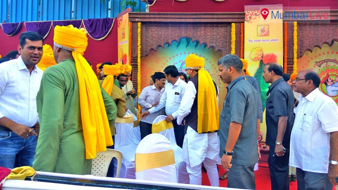 Ashish Shelar and Deepak Kesarkar celebrate Gudi Padwa in Dadar