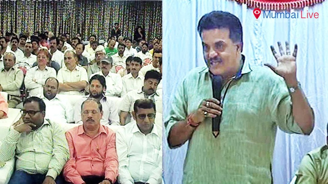 Sanjay Nirupam addresses Congress party workers