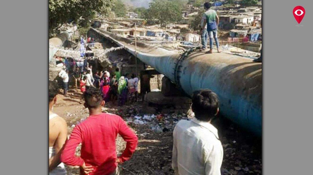 दामू नगर में पाइप लाइन फटी, दो दिन पानी के लिए तरसते रहे लोग