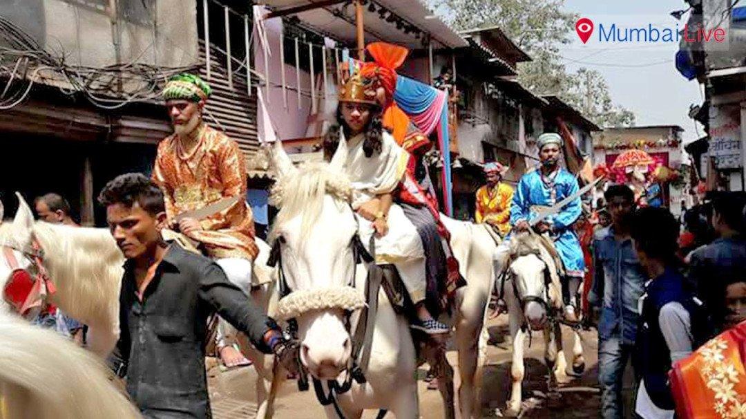 धारावी में शोभायात्रा