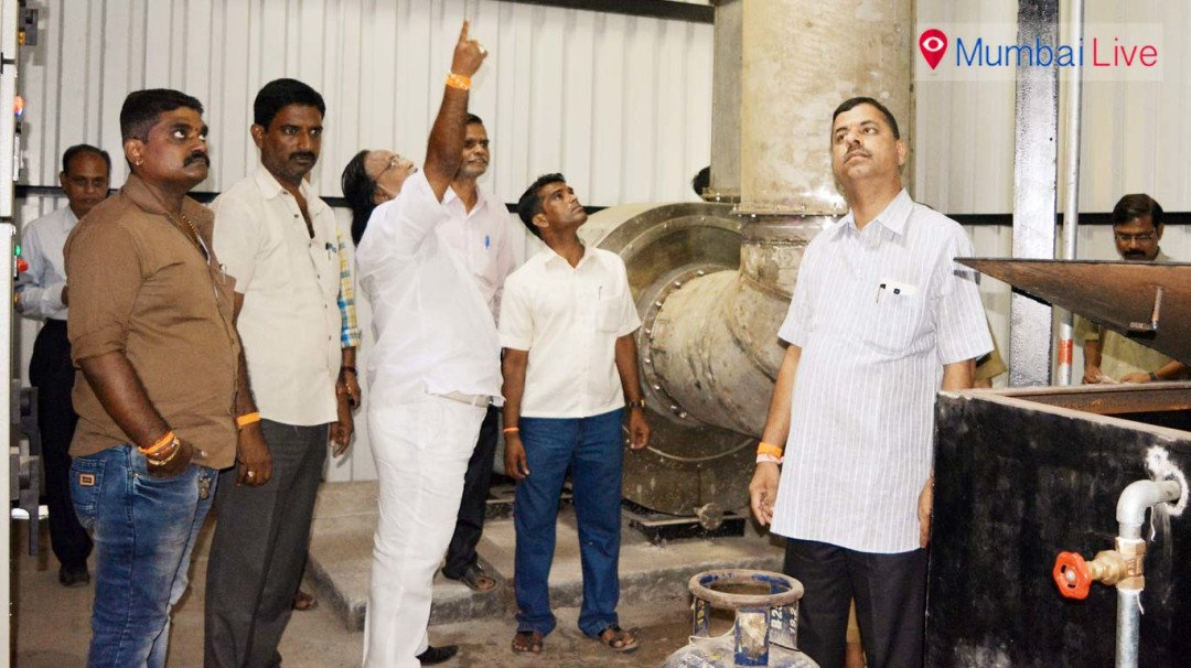 Inauguration of modern chimney in Dharavi crematorium