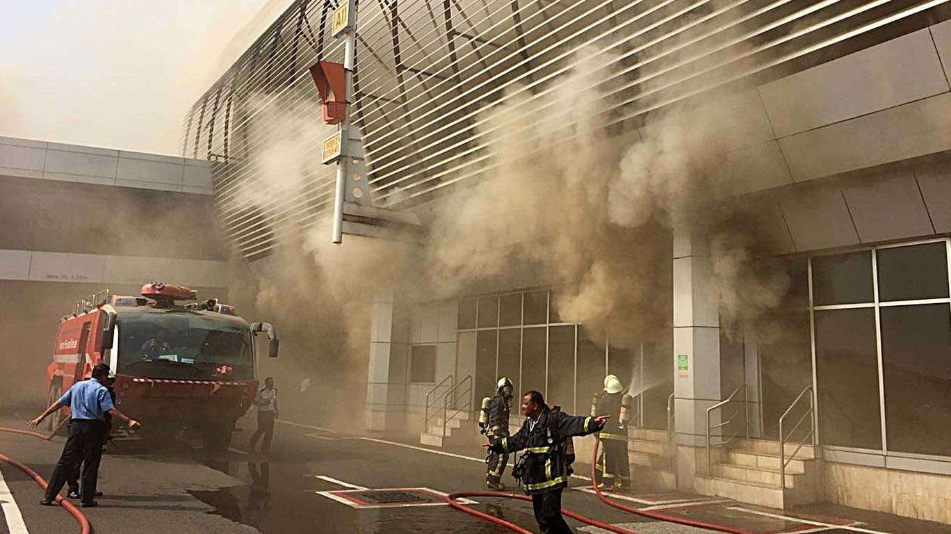 Fire breaks out at domestic airport lounge, brought under control