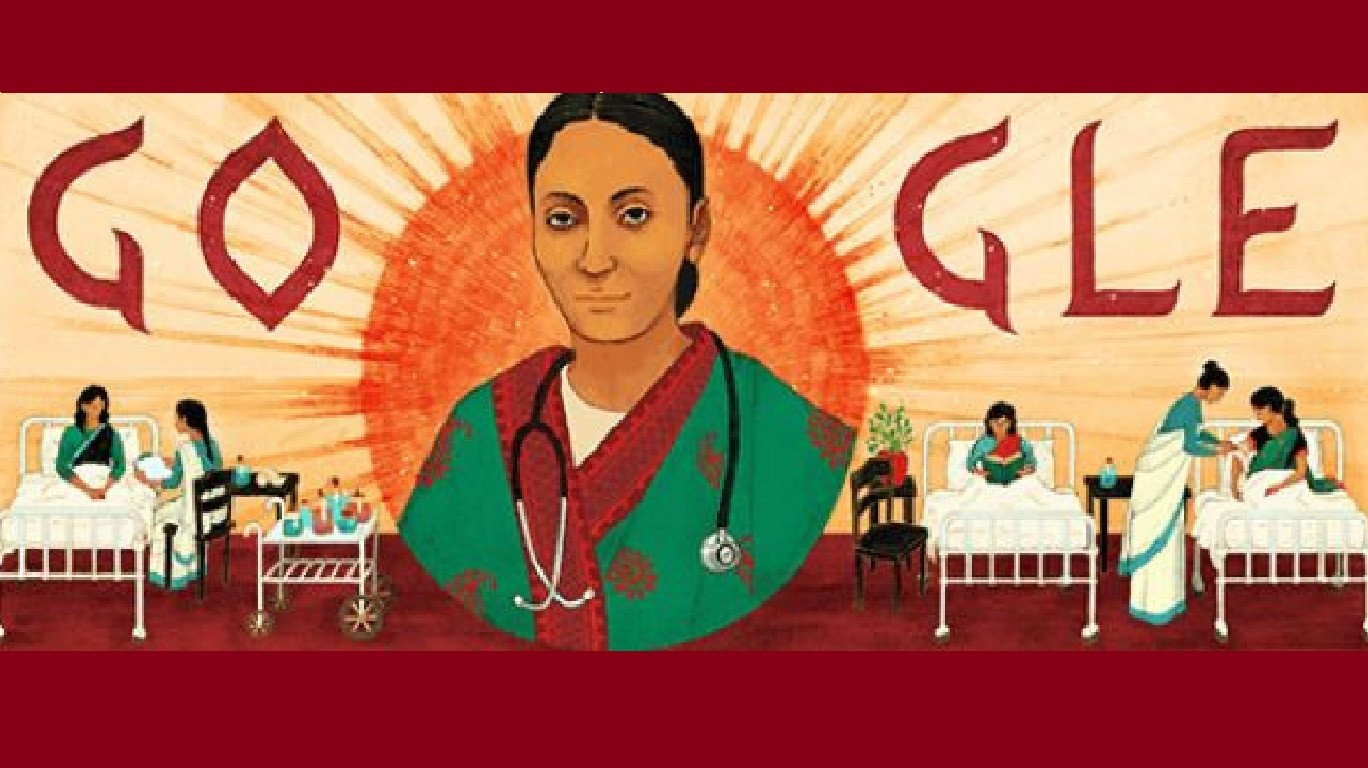 Google doodle marks Rukhmabai's 153rd birth anniversary today
