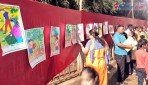 Drawing competition in Vile Parle