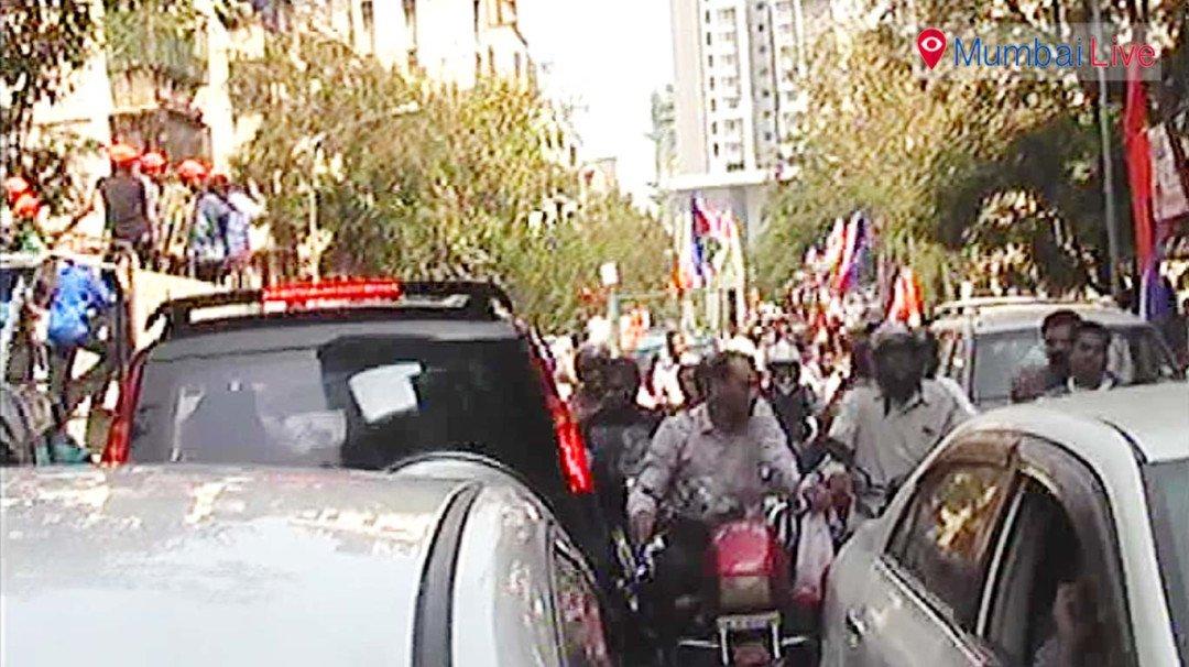 एक रोड, एक समय और तीन पार्टियों की रैली