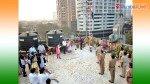 विद्यार्थ्यांनी देशभक्तीपर गीतांनी दिली झेंड्याला मानवंदना