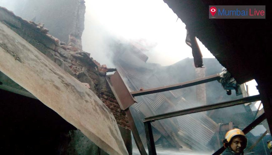 Fire at a shop in Kumbharwada