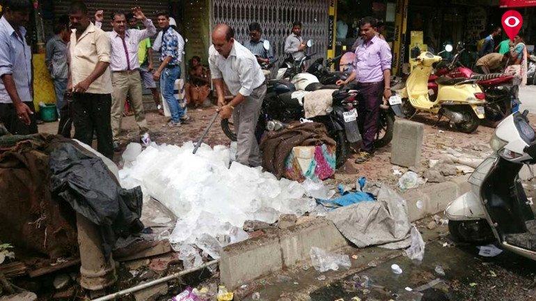 BMC destroys 1,800 kg of contaminated ice