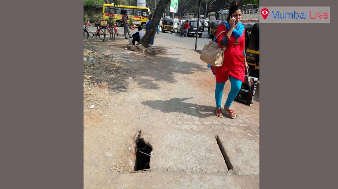 Footpath in bad condition- Jogeshwari