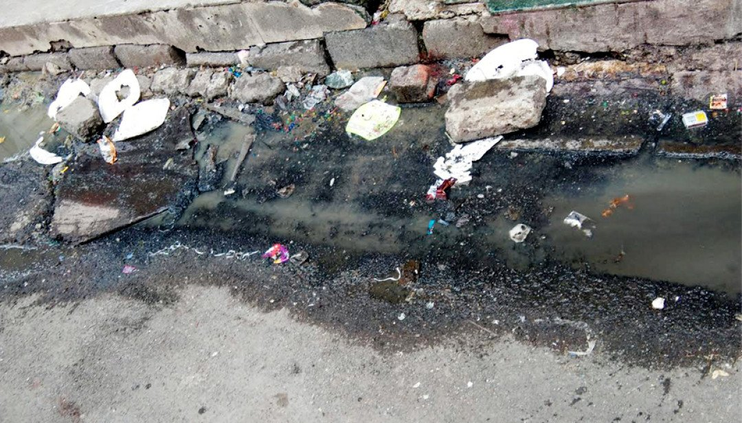 Drain water on road: Distraught residents