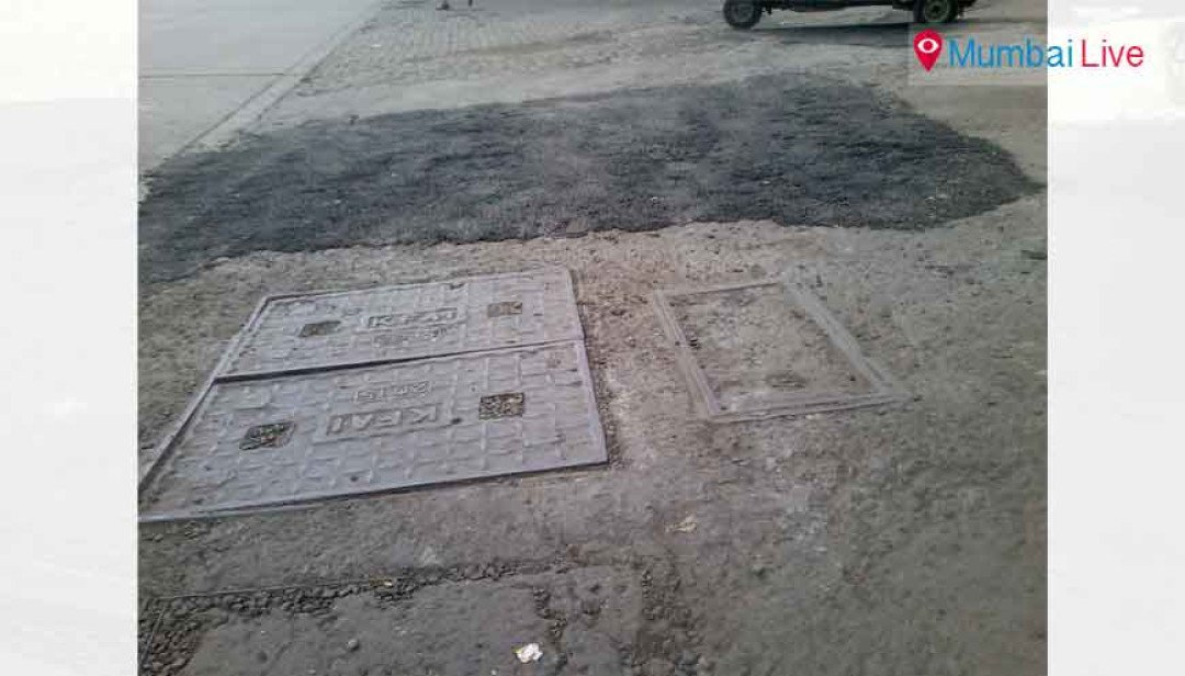 Golibar road filled with potholes