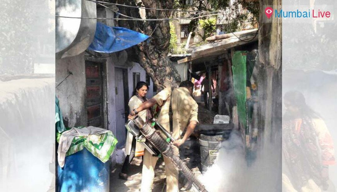 Fogging to fend off dengue at Gorai