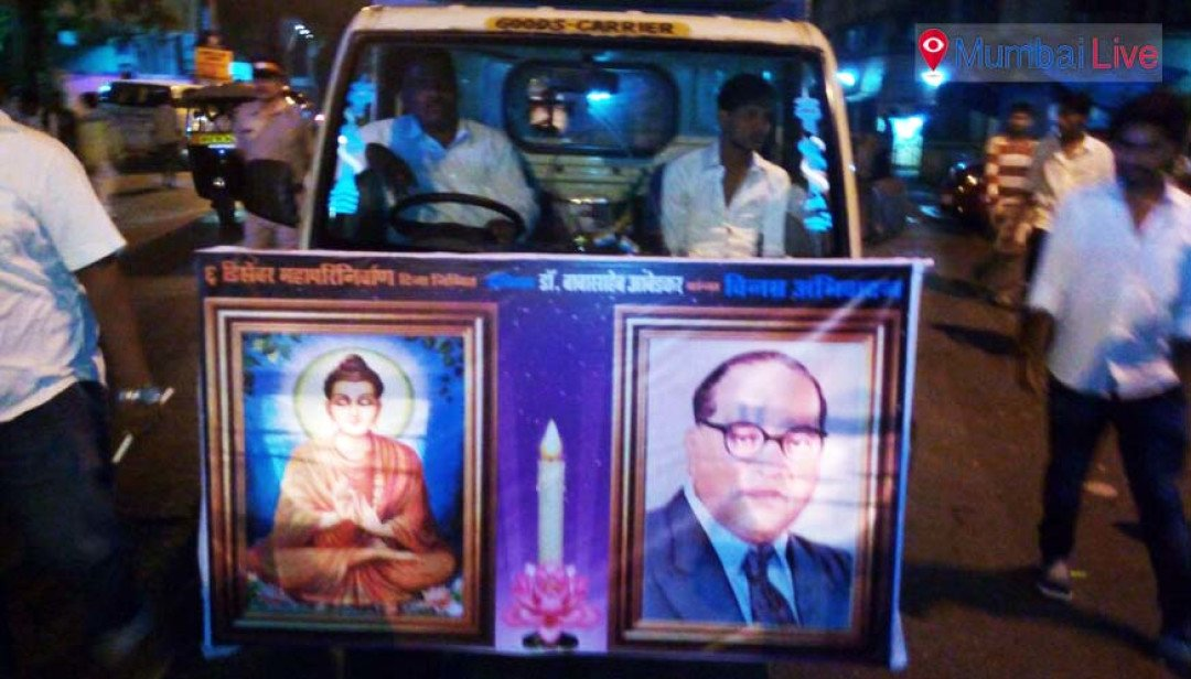 Candle march in memory of Babasaheb Ambedkar