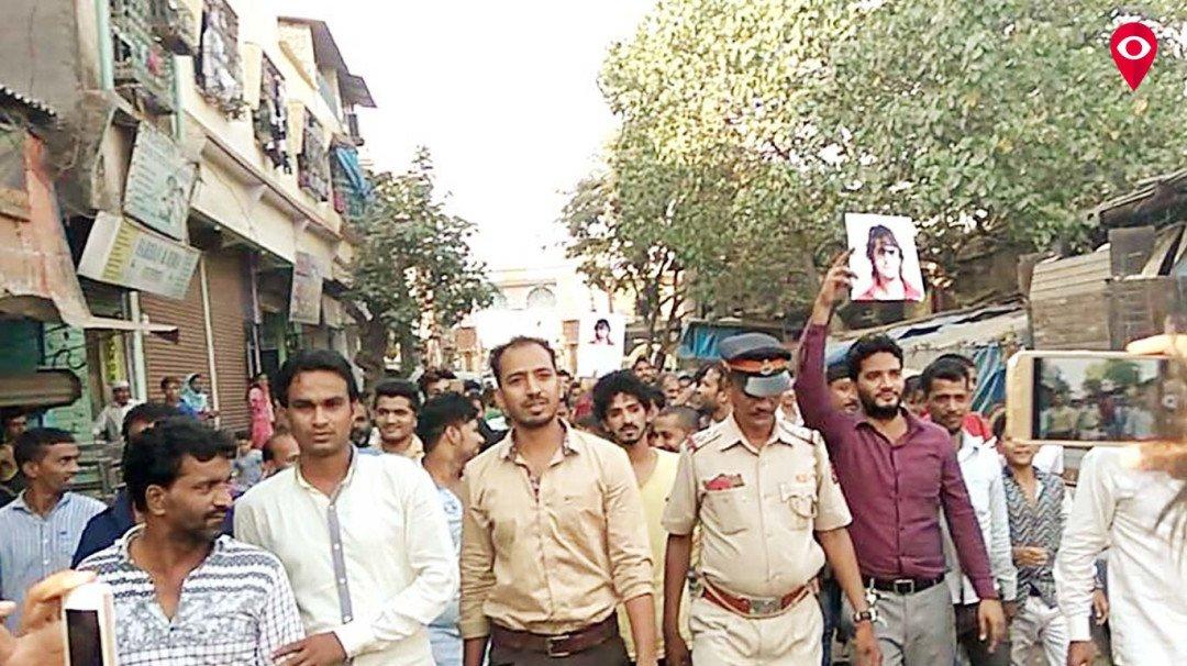 Protest against Sonu Nigam in Govandi