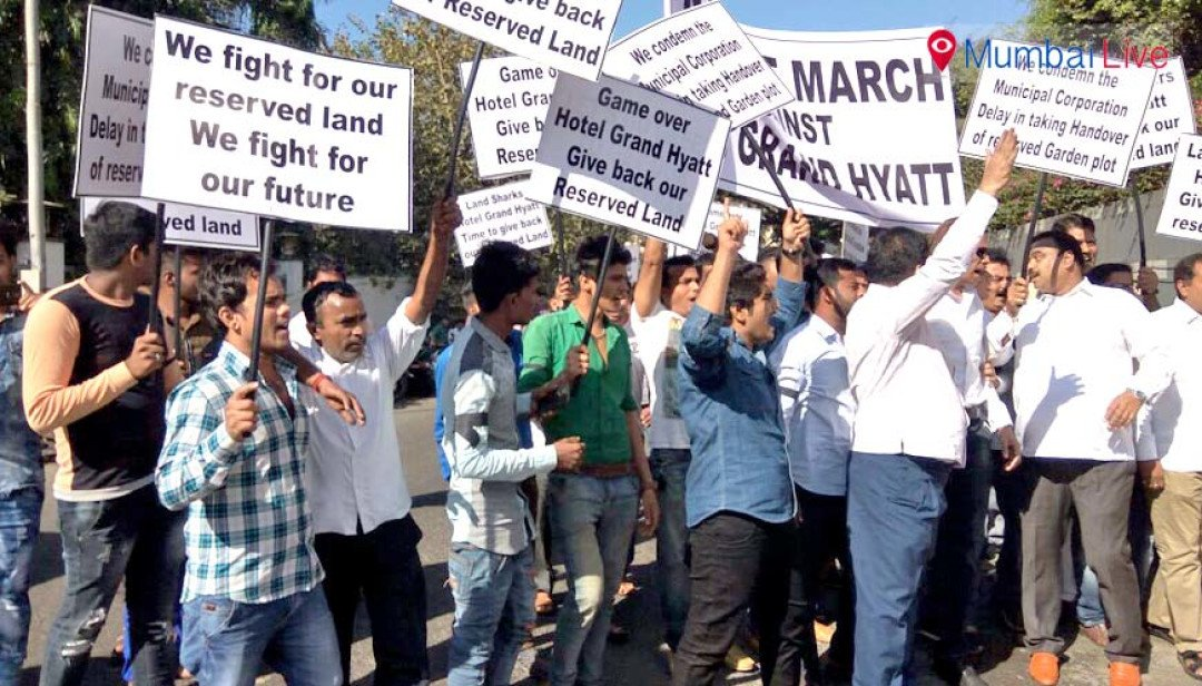 Citizens protest against Grand Hyat